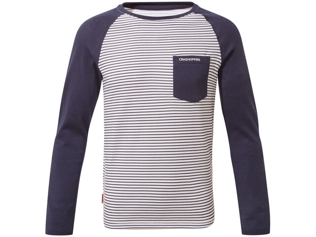 Craghoppers NosiLife Lorenzo T-shirt à manches longues Garçon, blue navy stripe/blue navy